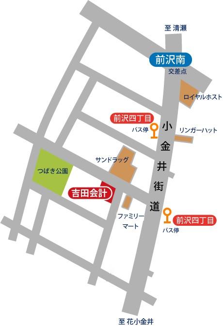 吉田税務会計事務所・周辺地図